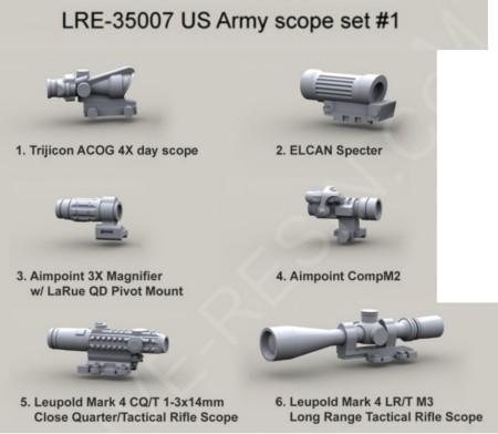 Live Resin 1//35 LRE-35011 Forward Grip Set 5 Kind of Forward Grip